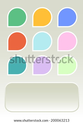 colorful set of trade shopping label blanks. vector illustration