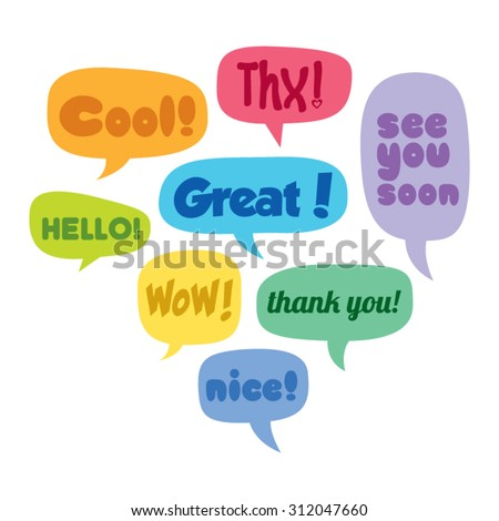 Colorful Set of Vector Speech Bubbles - stock vector