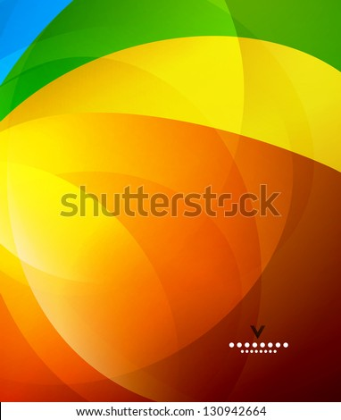 Colorful shiny abstract design template - stock vector