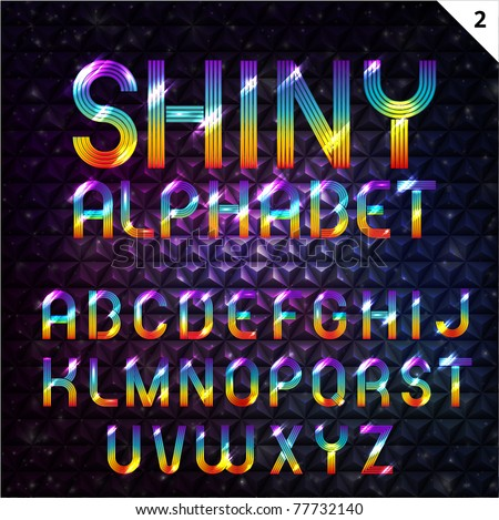 Colorful Shiny Alphabet - stock vector