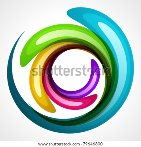 Colorful shiny bubbles. Vector background Eps 10. - stock vector