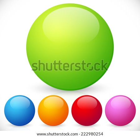 Colorful, shiny spheres - stock vector