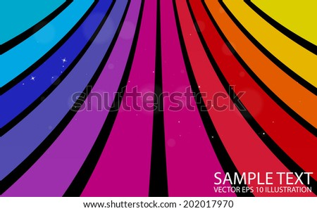 Colorful shiny vector background curvatures - Abstract rainbow color slide background  illustration - stock vector