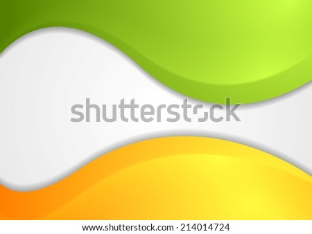 Colorful shiny waves background. Vector design - stock vector