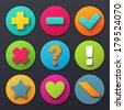 Colorful signs icons  - stock vector