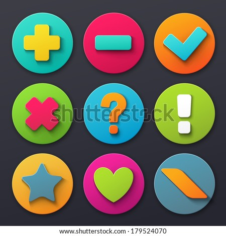 Colorful signs icons