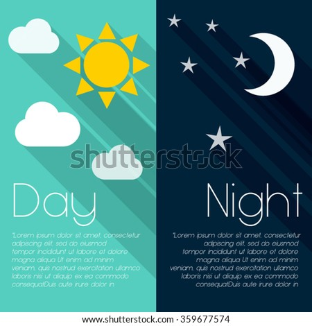 Colorful Modern Simple Flat Design Day Stock Vector 358304048 ...