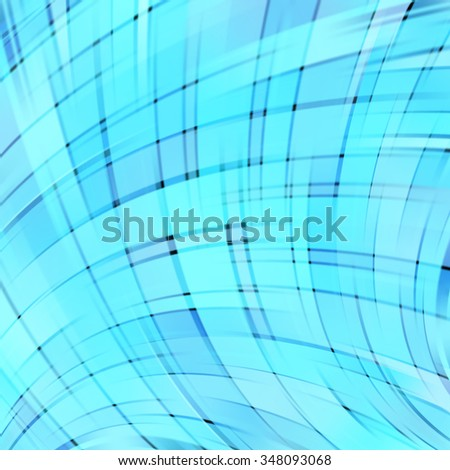 Colorful smooth light lines background. Blue color. Vector illustration
