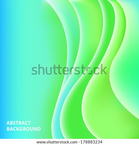 Colorful smooth light lines vector background