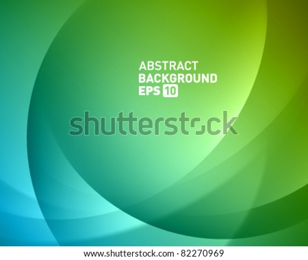 Colorful smooth twist light lines vector background. Eps 10. - stock vector