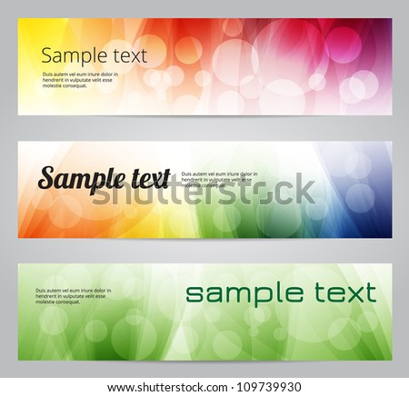 Colorful soft vector banners - stock vector