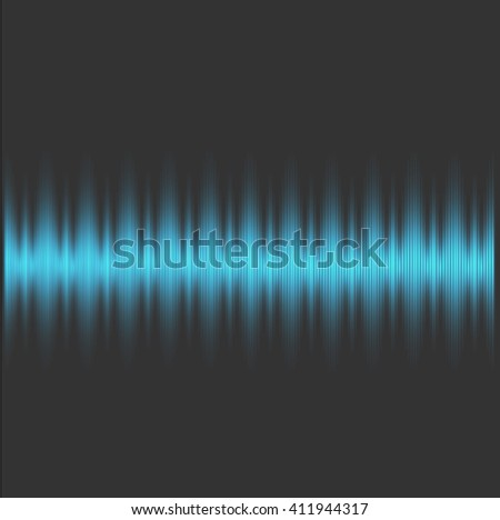 Colorful sound wave on a dark background. Vector illustration.