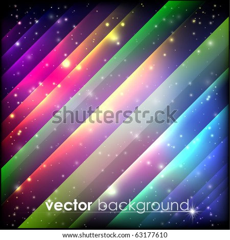 Colorful Space Background - stock vector