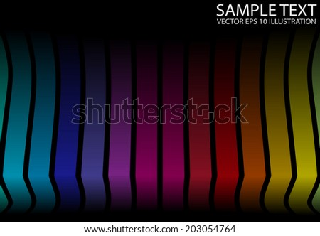 Colorful space vector background illustration - Vector striped colorful rainbow template - stock vector