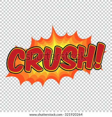 Colorful speech bubble and explosion in pop art style. Elements of design comic books. Crush from different comic fonts. - stock vector