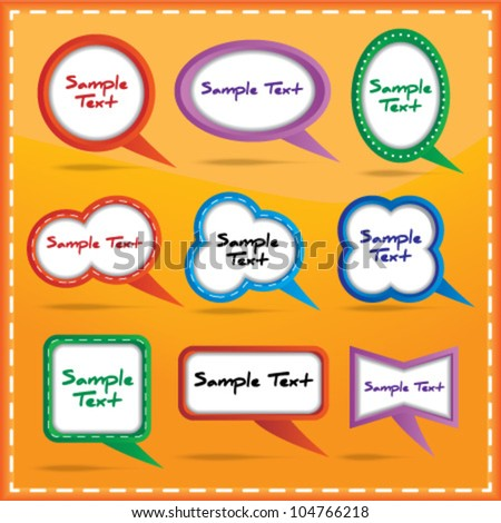 Colorful speech bubble collection - stock vector
