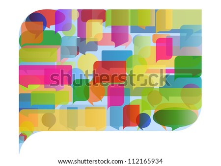 Colorful speech bubble illustration concept background vector