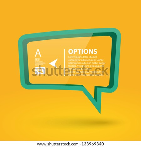 Colorful Speech Bubble Options Banner template. Vector illustration - stock vector