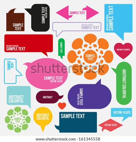 colorful speech bubbles  - stock vector