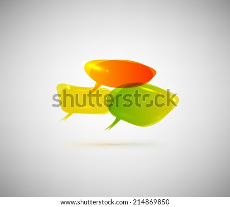 Colorful speech bubbles Isolated on gray background - stock vector