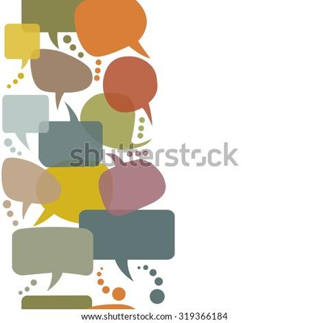 Colorful speech bubbles set - stock vector