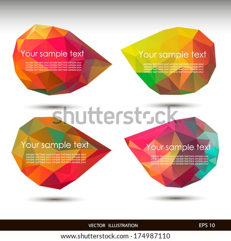 Colorful speech bubbles . Vector illustration for your business website. - stock vector