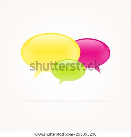 Colorful speech vector bubbles - stock vector