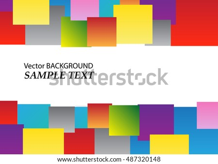 Colorful square background.Vector illustration.