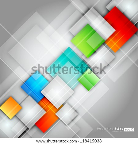 Colorful Square Blank Background - Vector Design Concept - stock vector
