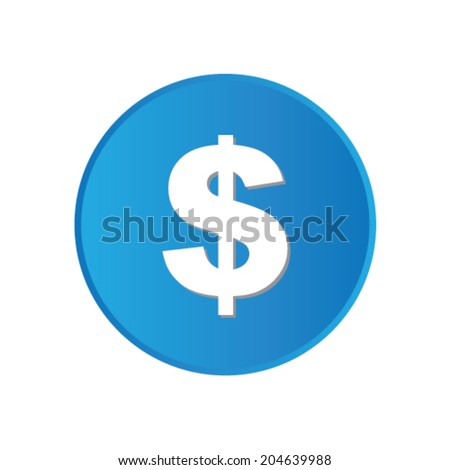 Colorful square buttons for website or app - Dollar Sign