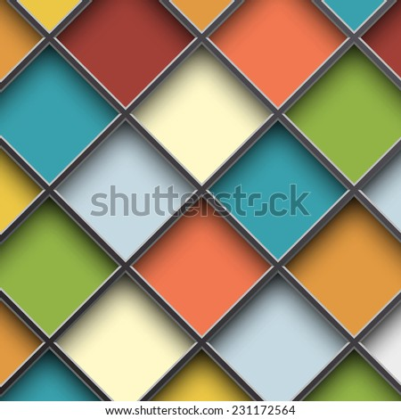 colorful square cells - stock vector