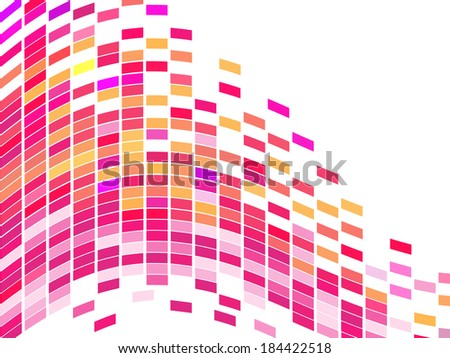 Colorful square mosaic - vector - stock vector