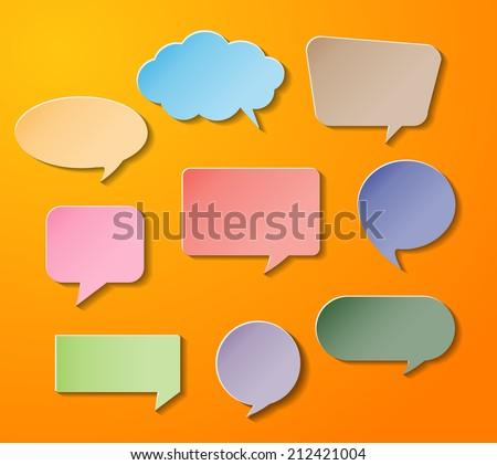 Speech Bubble Cut Paper Design Template Vector 222058831 – Paper Design Template