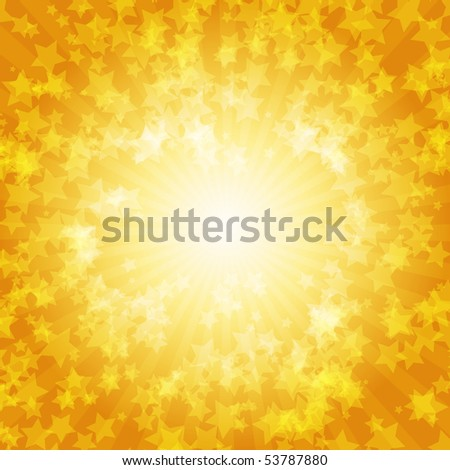 Colorful stars vector background - stock vector