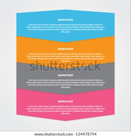 Colorful Step by Step - stock vector