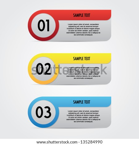 Colorful Step by Step Banner - stock vector