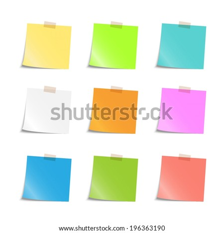 colorful sticky notes illustration eps 10