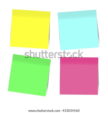 Colorful Sticky Notes. Infographics elements. Vector EPS10 - stock vector