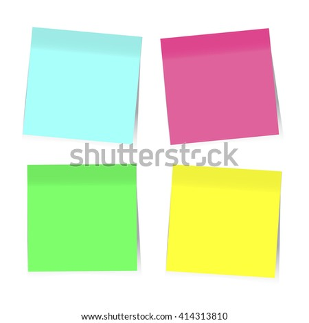 Colorful Sticky Notes. Vector EPS10 - stock vector