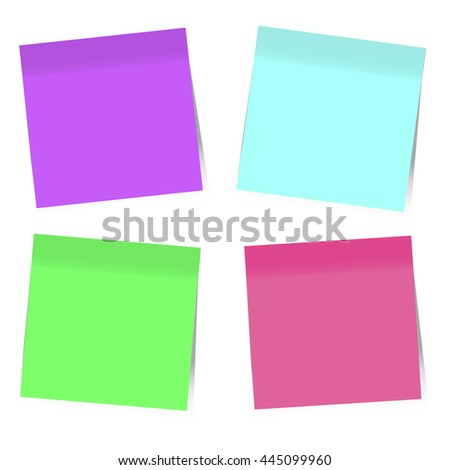 Colorful Sticky Notes, Vector EPS10