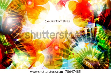 colorful summer background design - stock vector