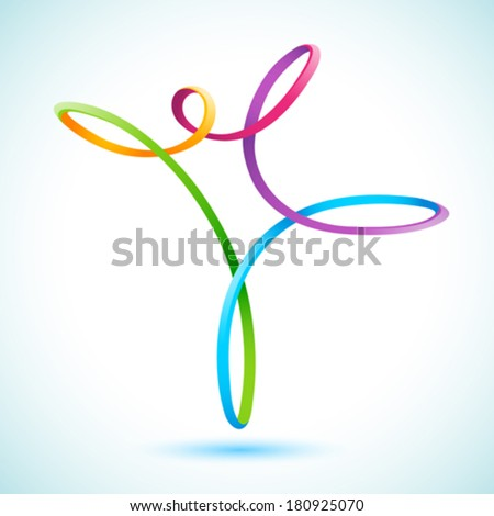 Colorful swirly figure - stock vector