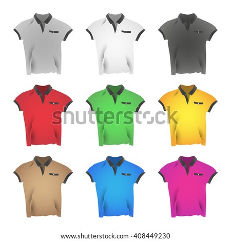 Colorful T-shirts illustration