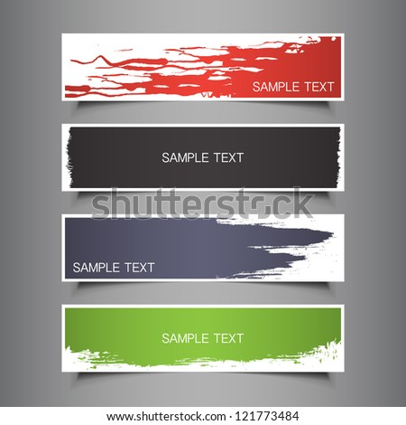 Colorful Tag, Label, Banner Designs - stock vector