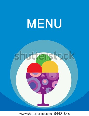 colorful tasty ice-cream and milk shake, design template - stock vector