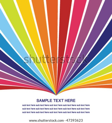 colorful template - stock vector