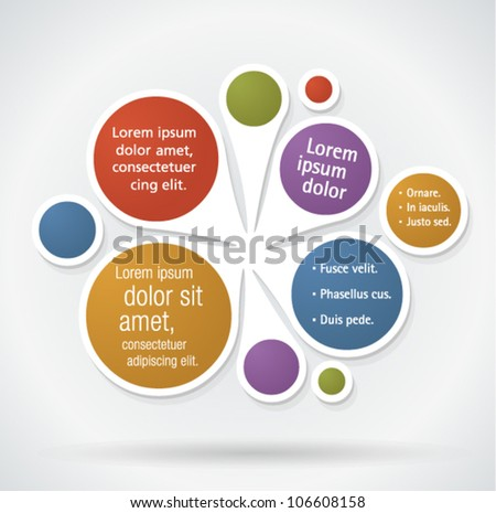 Colorful template for advertising brochure - stock vector