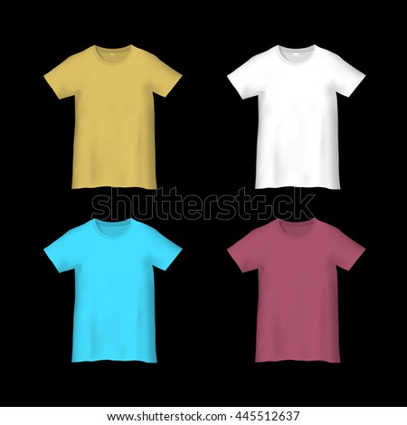 Colorful templates T-shirts. Vector set