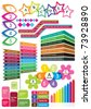 colorful text box templates - stock vector