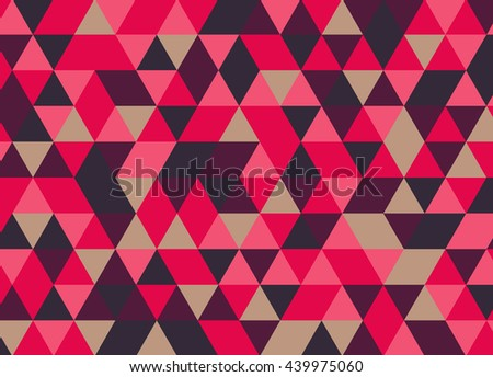 Colorful tile vector background illustration. Triangle geometric mosaic pattern.